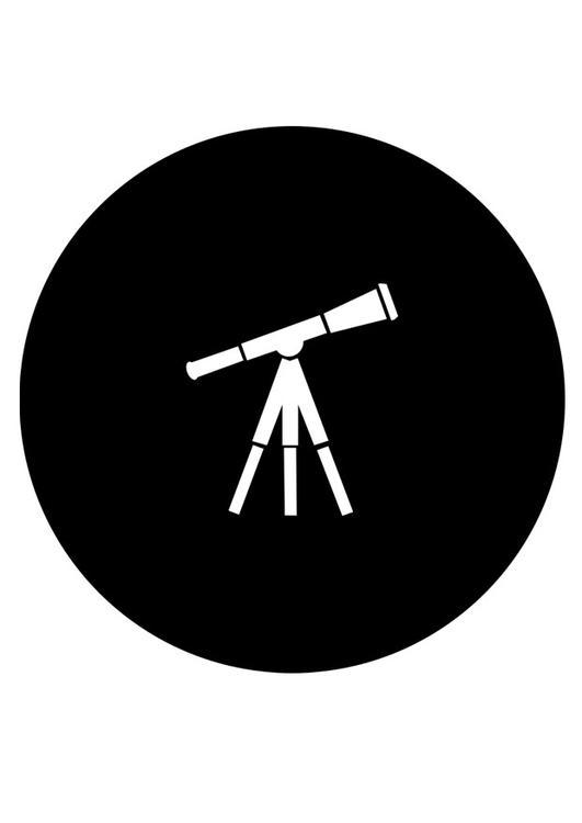 Dibujo para colorear telescopio - Img 27988