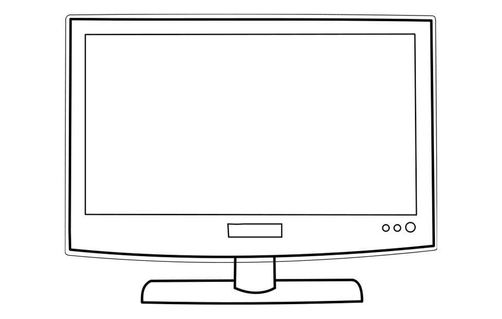 Dibujo para colorear televisión - Img 22723