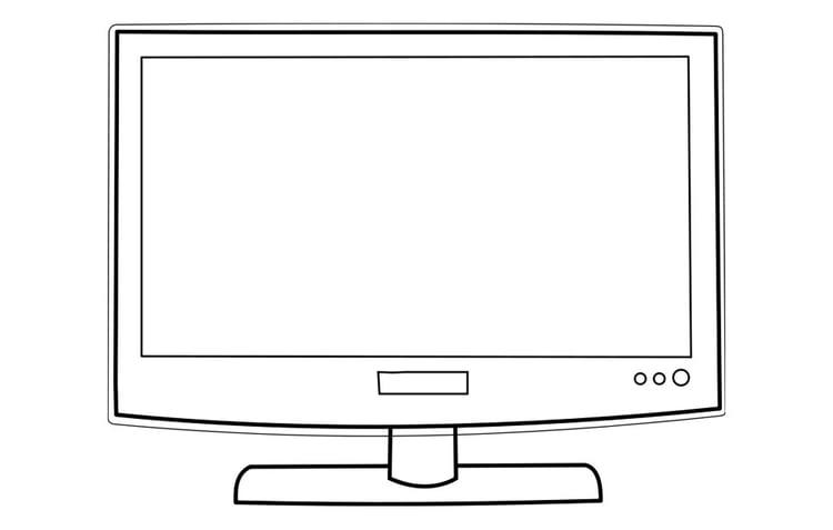 Dibujo Para Colorear Televisión