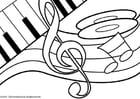 Dibujo para colorear Tema musical