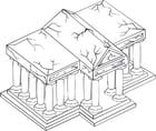 Dibujo para colorear Templo