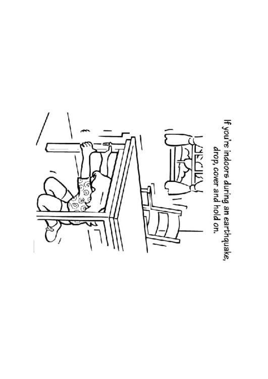 Dibujo para colorear Terremoto - Img 9247
