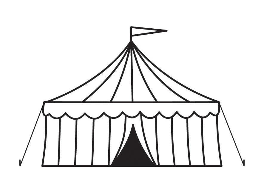 Dibujo para colorear tienda de circo - Img 23160