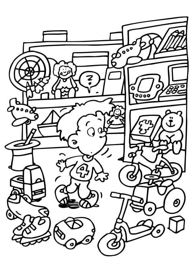 Dibujo para colorear Tienda de juguetes - Img 6548