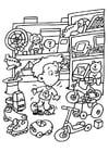 Dibujo para colorear Tienda de juguetes