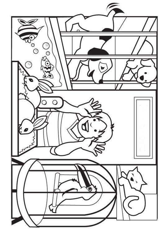 Dibujo para colorear Tienda de mascotas - Img 7080