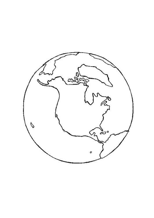 Dibujo Para Colorear Tierra Img 9712
