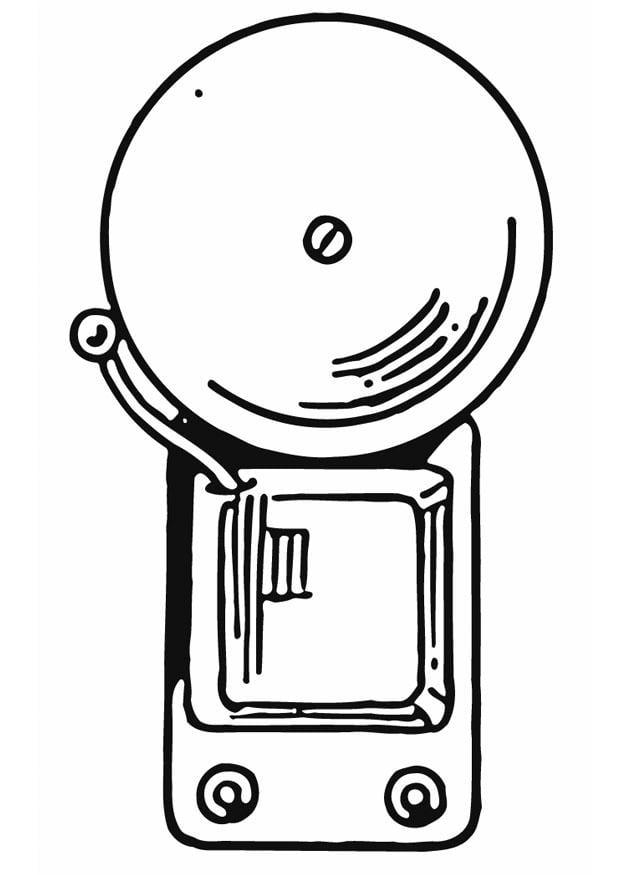 dibujo para colorear timbre