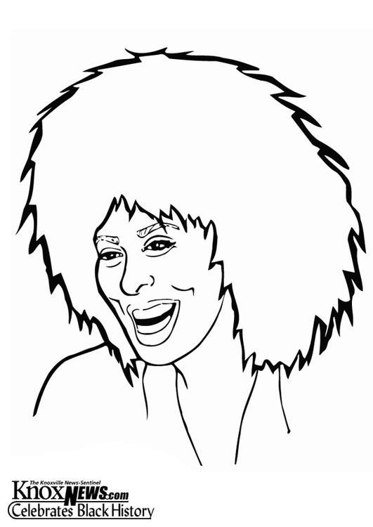 Dibujo Para Colorear Tina Turner Img 13332