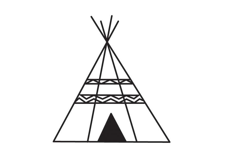 tepee coloring pages - photo#24