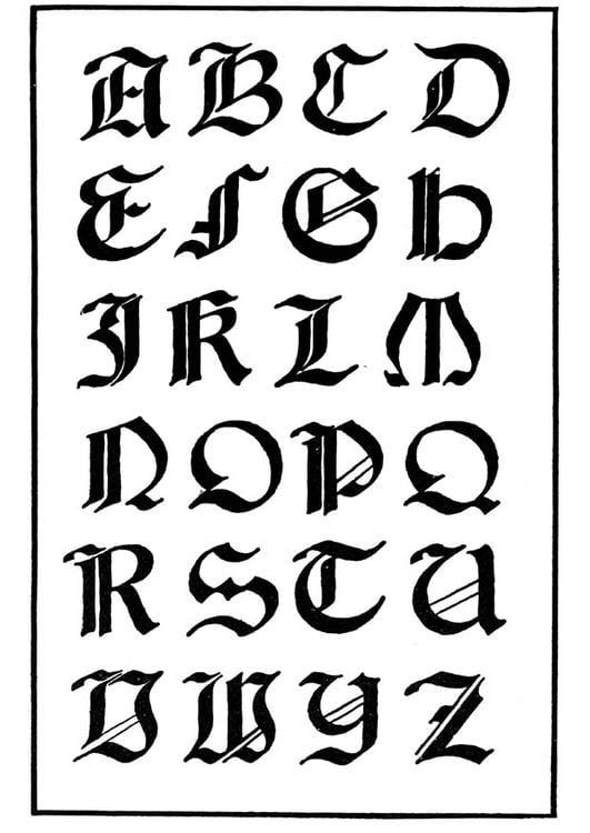 Tipo de letra gótica italiana