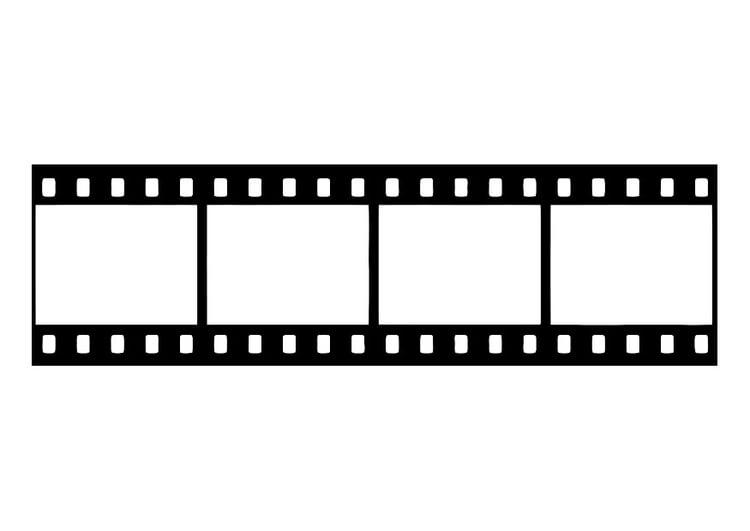 Dibujo para colorear tira de película, negativo de película - Img 27437