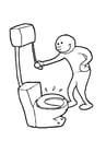 Dibujo para colorear Tirar de la cisterna