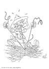 Dibujo para colorear Tirar