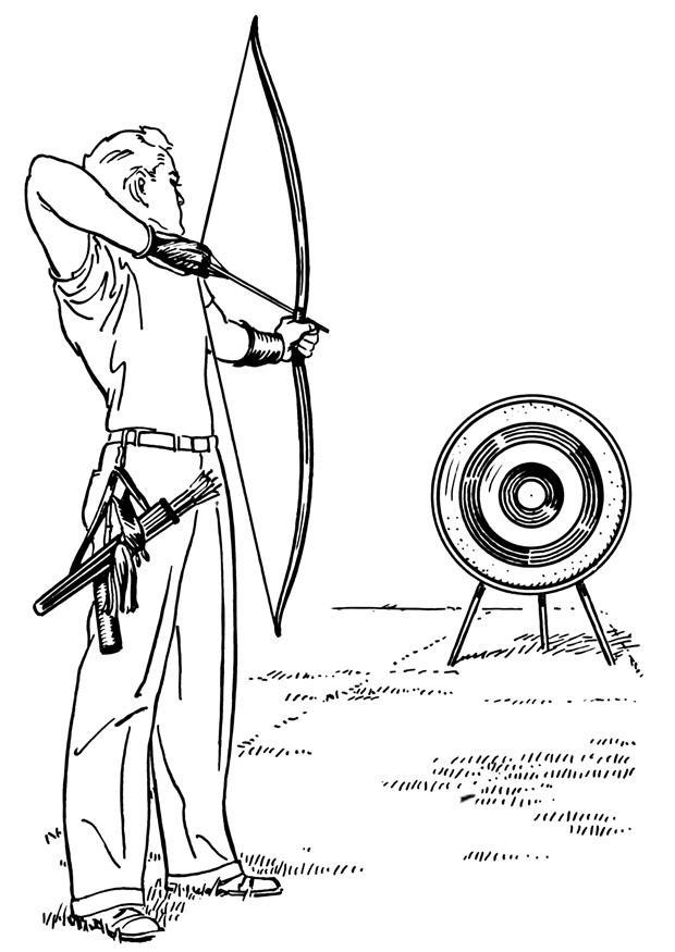 Dibujo para colorear Tiro con arco - Img 26104