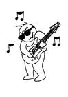 Dibujo para colorear Tocar la guitarra