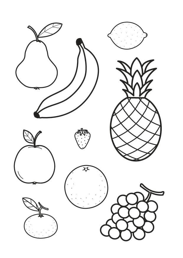frutas coloring pages - photo#10