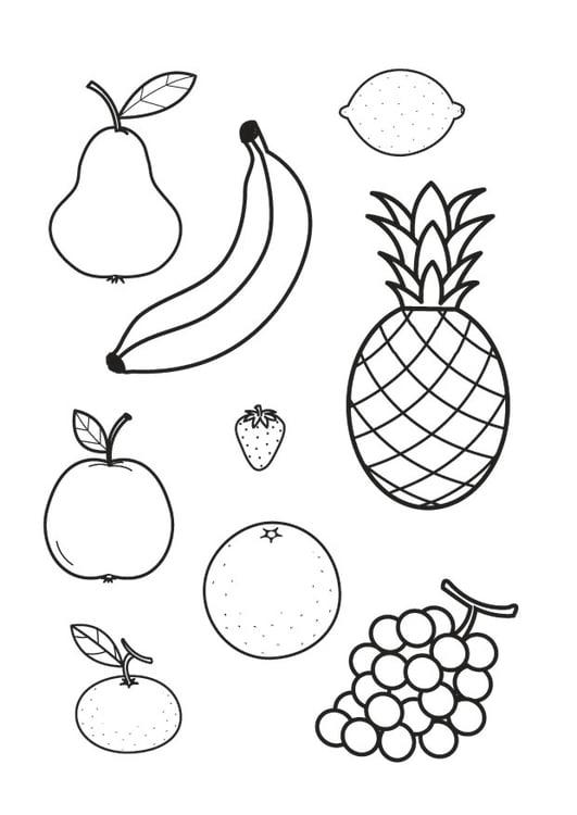 Dibujo para colorear toda la fruta   Img 23178