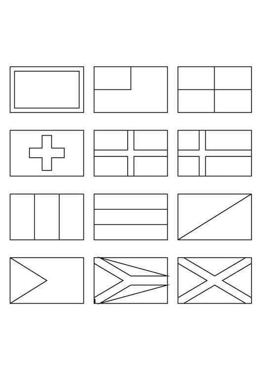 Dibujo Para Colorear Todo Tipo De Banderas Img 9822