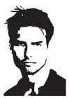 Dibujo para colorear  Tom Cruise