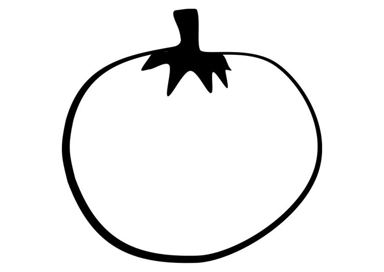 dibujo para colorear tomate dibujos para imprimir gratis