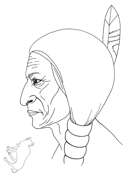 Dibujo para colorear Toro sentado - Img 9914