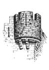 Dibujo para colorear Torre de castillo