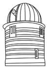 Dibujo para colorear torre de observación