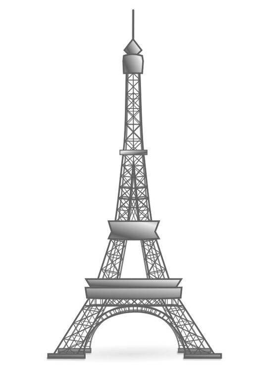 Dibujo Para Colorear Torre Eiffel Francia Dibujos Para