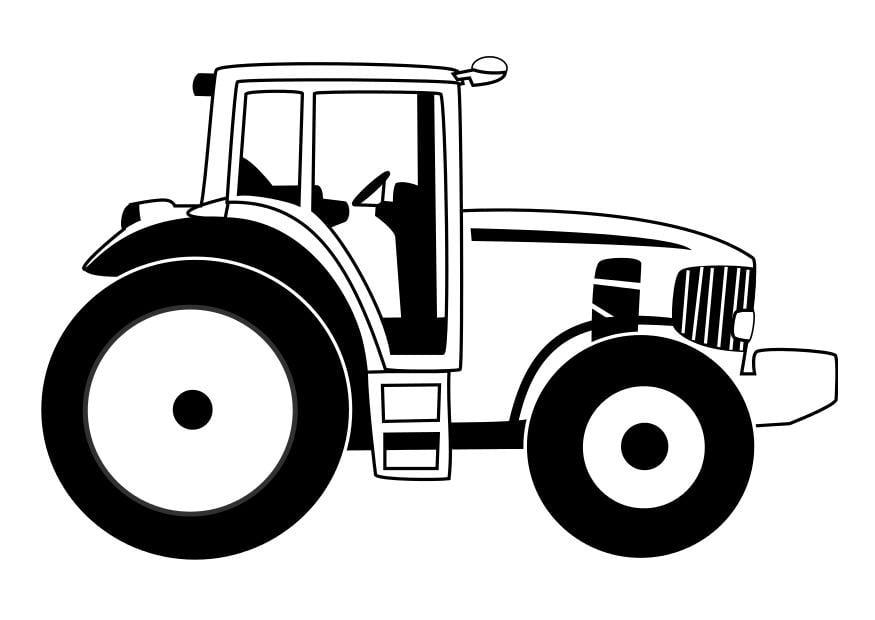 Dibujos De Oruga Para Colorear: Dibujo Para Colorear Tractor