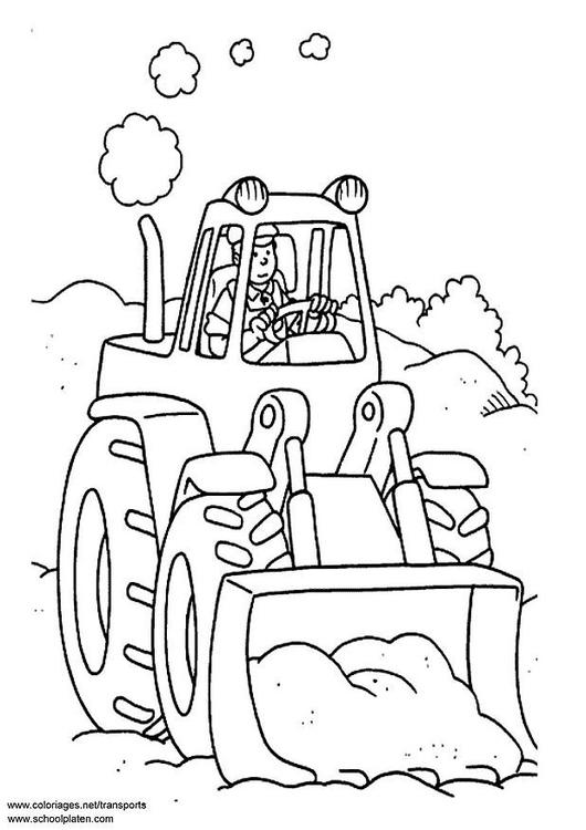 Dibujo para colorear Tractor - Img 3096
