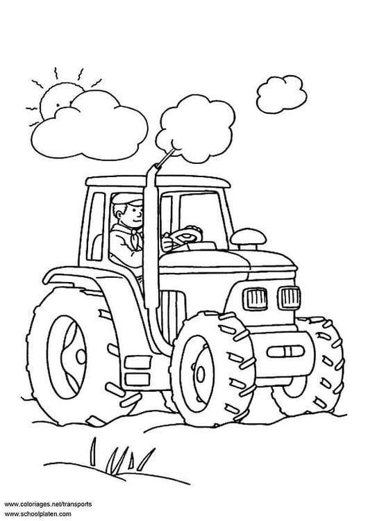 Dibujo para colorear Tractor - Img 3097