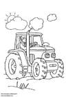 Dibujo para colorear Tractor