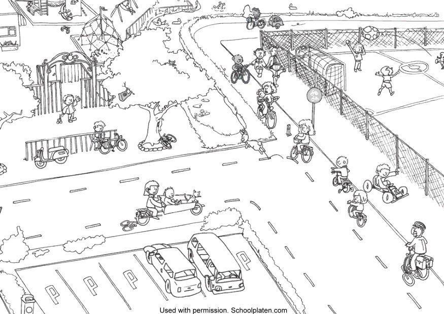 Dibujo para colorear Tráfico - Img 5366