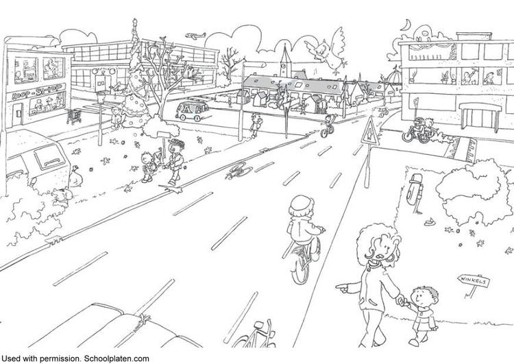 Dibujo para colorear Tráfico - Img 5369