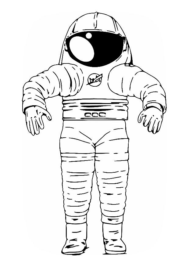 Perfecto Astronauta Hoja Para Colorear Ilustración - Dibujos Para ...