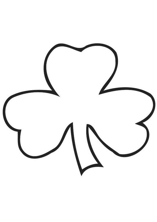 Dibujo para colorear trébol irlandés - Shamrock - Img 21703