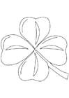 Dibujo para colorear Trébol irlandés - Shamrock