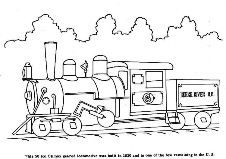 Dibujo Para Colorear Tren A Vapor Img 3968