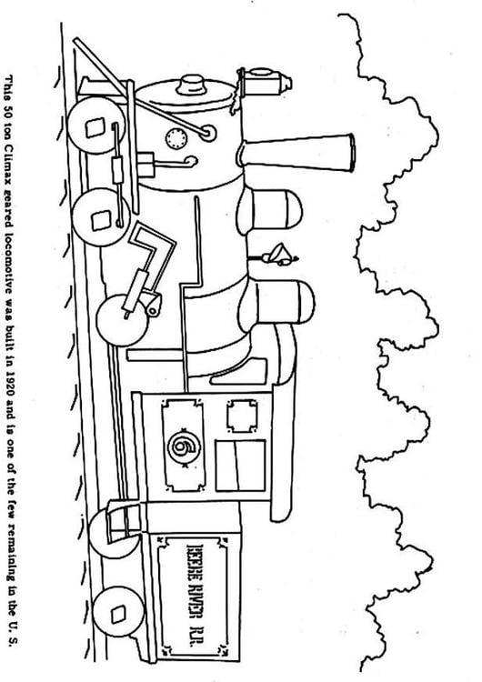 Dibujo para colorear Tren a vapor - Img 3968