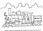 Dibujo para colorear Tren a vapor
