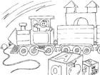 Dibujo para colorear tren de juguete