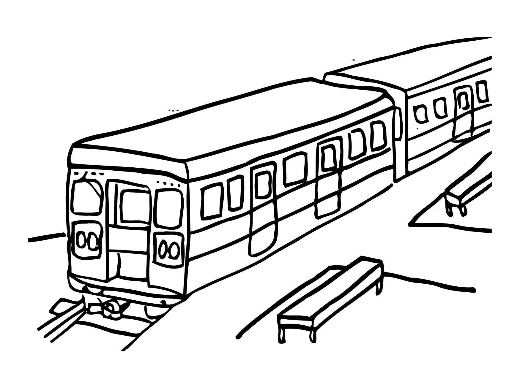 Dibujo para colorear Tren - Img 12303