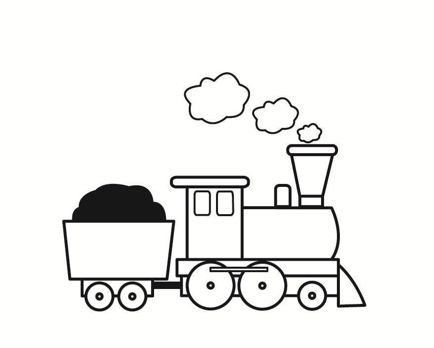 dibujo para colorear tren img 23358
