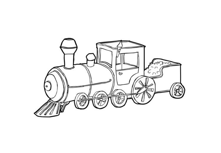 Dibujo para colorear Tren - Img 13748