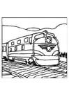Dibujo para colorear tren