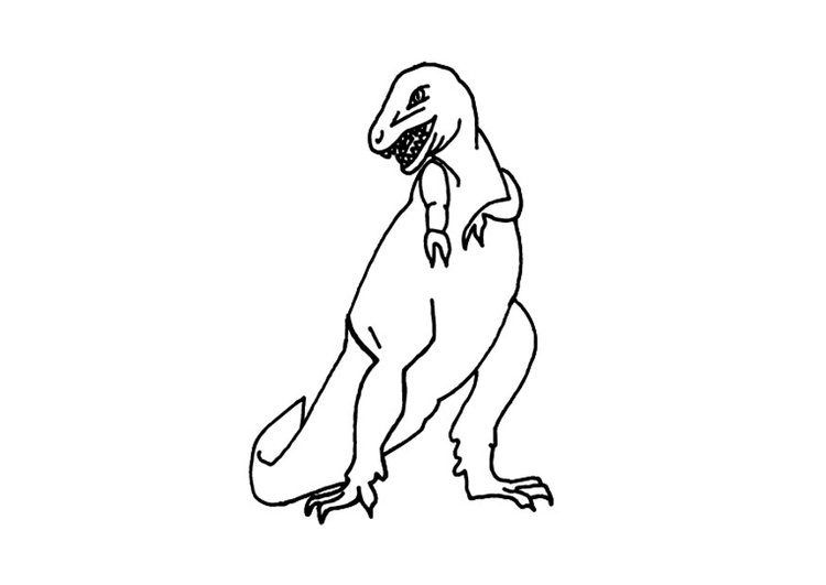 Dibujo para colorear T-rex - Img 9693