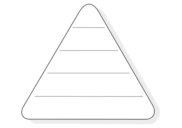 Dibujo para colorear triángulo de alimentación vacío - Img 21993