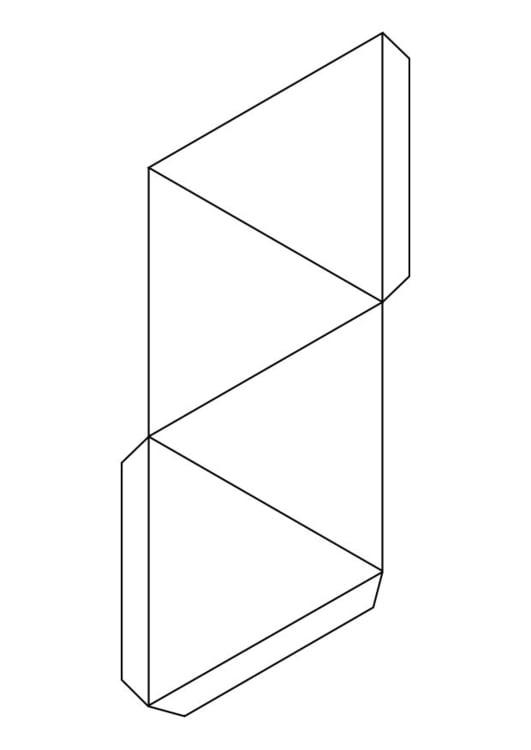 Dibujo para colorear triángulo - pirámide - Img 18722
