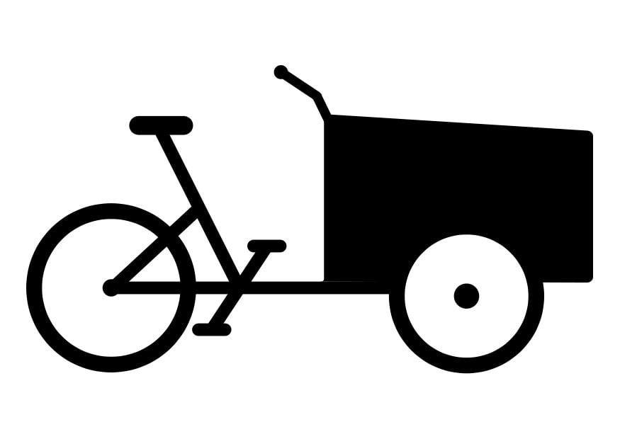 Kleurplaat Mountainbike Dibujo Para Colorear Triciclo De Reparto Img 27807